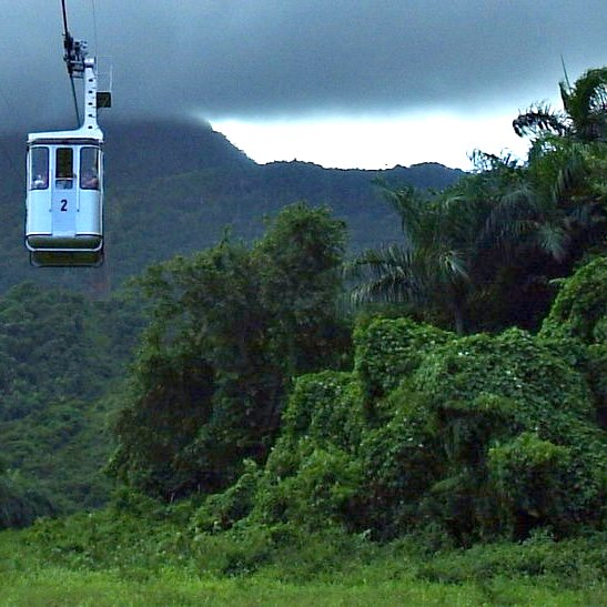 Aerial tramway in Puerto Plata