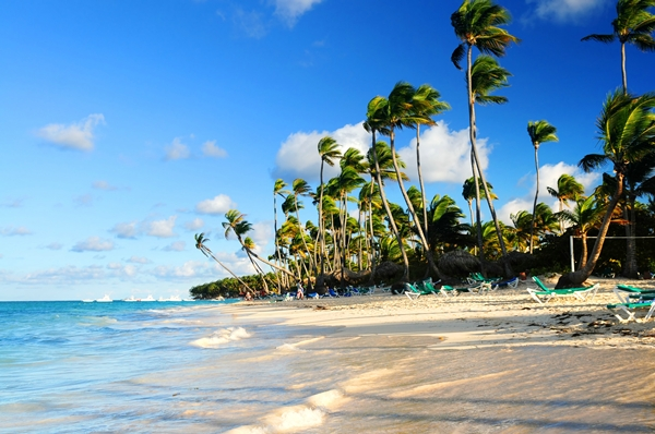 Dominican republic, Tropical sandy beach